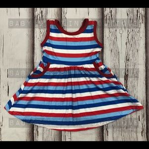 Red, White, & Blue Dress with pockets